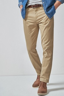 Premium Chinos With Leather Belt