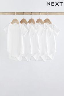 5 Pack Plain Short Sleeve Bodysuits (0mths-3yrs) (348384)   $13 - $16