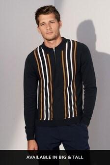 Рубашка поло в вертикальную полоску