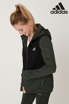 adidas Dark Green Winterized Zip Through Hoody