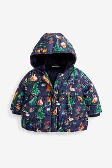 Дутая куртка с принтом (0 мес. - 2 лет)