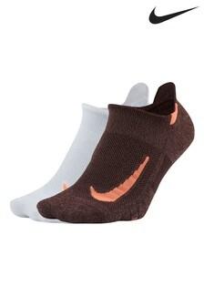 Lot de 2 paires de chaussettes invisibles Nike Running roses