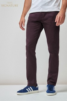 Sateen Trousers With Stretch