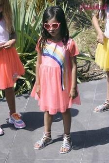 Billieblush Pink Rainbow Frill Dress
