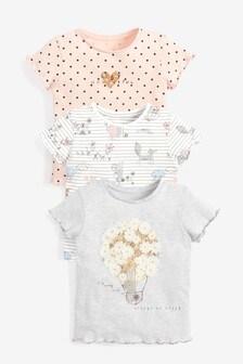 3 Pack Bunny T-Shirts (3mths-7yrs)