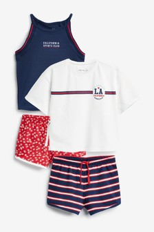 2 Pack College Short Pyjamas (3-16yrs)