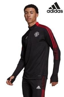 adidas ブラック Manchester United トレーニング トップス
