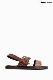 Base London® Brown Empire Waxy/Emboss Sandals