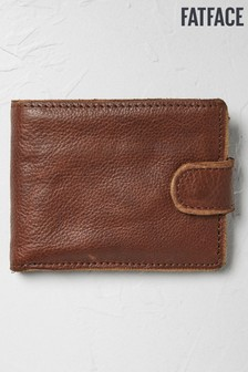 FatFace Brown Raw Edge Leather Wallet