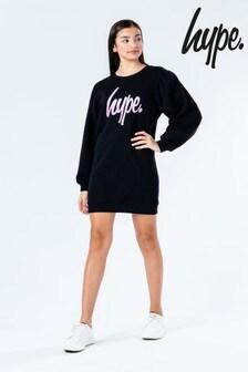Hype. Pulloverkleid mit Glitzer-Schriftzug