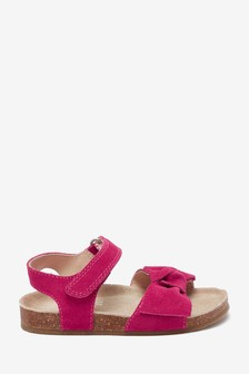 Suede Bow Corkbed Sandals (Younger)