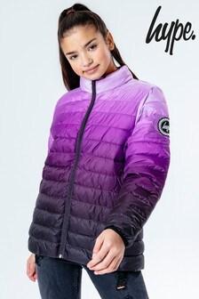 Легкая дутая куртка с эффектом выцветания Hype.