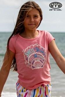 Animal Shelby Grafik-Shirt, rosa-meliert