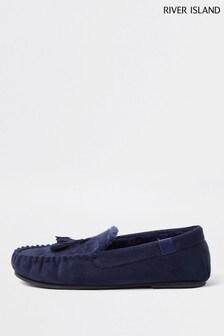 حذاء خف للبيت أزرق منRiver Island