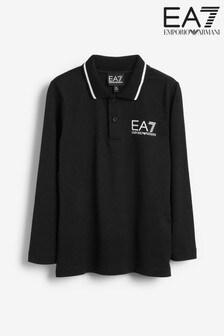 Emporio Armani EA7 Jungen Langärmeliges Polohemd