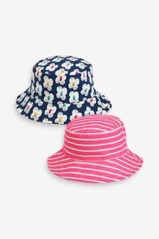 מארז 2 כובעי דייגים עם פרחים (ילדים)