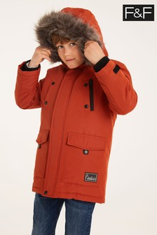 F&F Orange Rust Parker Coat