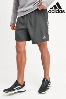 adidas Run It Shorts mit 3 Streifen, Grau