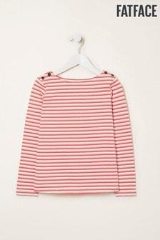Ružové pruhované tričko FatFace