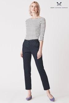 Pantalones tobilleros azules Delphinium Grazer de Crew Clothing