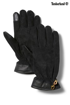 Timberland® Black Nubuck Glove With Touch Tip