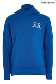 River Island Leichtes Kapuzensweatshirt, Blau