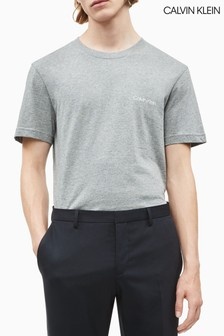 Calvin Klein T-Shirt mit Logo auf der Brust, grau
