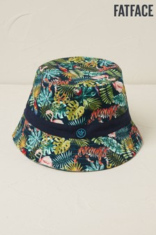 FatFace Blue Jungle Bucket Hat