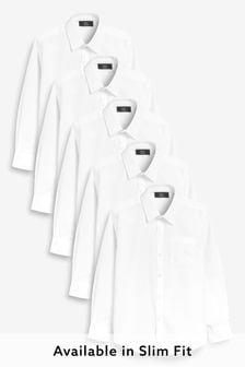 Набор из 5 рубашек с длинными рукавами (3-16 лет)