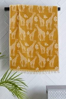 Ochre Giraffe Towel