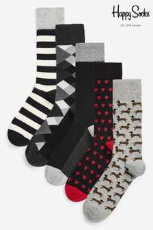 Happy Socks Dachshund 5 Pack Socks