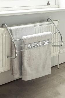 Chrome Over Radiator Towel Rack