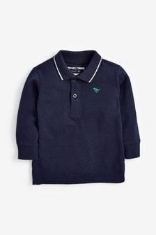 Gładka koszulka polo z długim rękawem (3m-cy-7lata)
