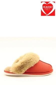 נעלי בית נוחות לנשים שלHeavenly Feet בצבע אדום