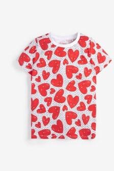 T-Shirt mit Herzchenmuster (3-16yrs)