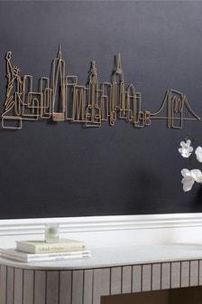New York Skyline Wire Plaque (355154)   $50