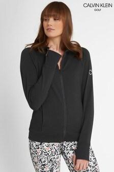 Calvin Klein Golf Black Zip Through Hoodie
