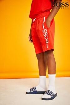 BOSS Red Logo Swim Shorts