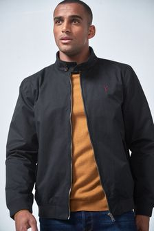 Shower Resistant Harrington Jacket With Check Lining (355647) | $76