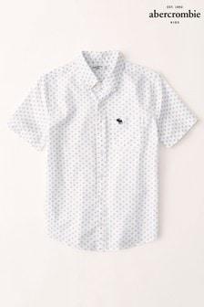 Abercrombie & Fitch Short Sleeve Geometric Print Shirt