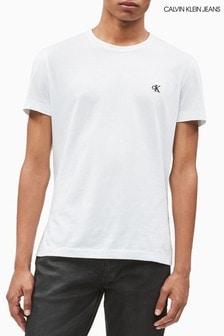 Calvin Klein Jeans White Essential Logo Slim Fit T-Shirt