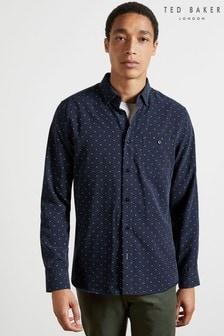 Ted Baker Hemd mit quadratischem Muster