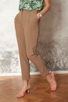 Elasticated Peg Trousers