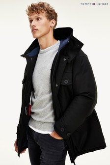 Tommy Hilfiger Black Heavy Canvas Parka