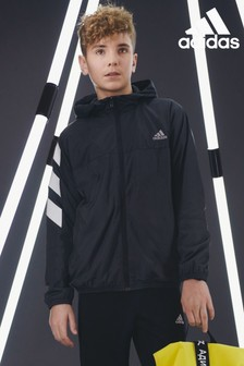 adidas XFG 3 Stripe Windbreaker Jacket