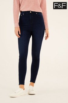 F&F Indigo 360 Zip Jeans