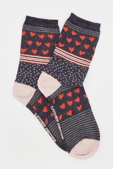 White Stuff Heart Hotch Potch Socks