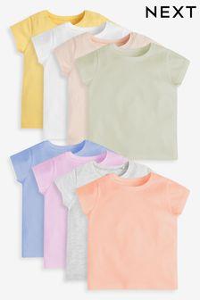 8 Pack Organic Cotton Short Sleeve T-Shirts (3mths-7yrs)