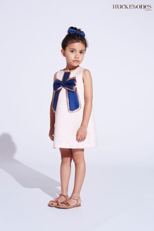 Hucklebones Pink Bow Shift Dress