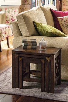 Balmoral Dark Chestnut Nest Of 3 Tables by Laura Ashley